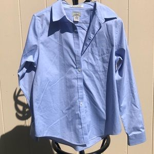 Beautiful blue LL Bean blouse size extra small